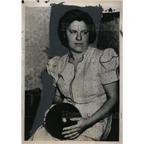 1940 Press Photo Amelia Rankel at Women's International Bowling Congress