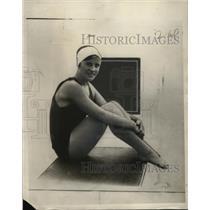 1930 Press Photo Grace Warner record breaker Baltimore Snr. Invitational Swim