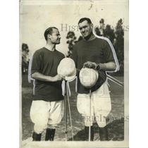 1930 Press Photo Eric Pedley, Elmer Boeseke @ Open Polo Championship Los Angeles