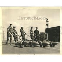 Press Photo Bombs Pulled on Wheeled Carts