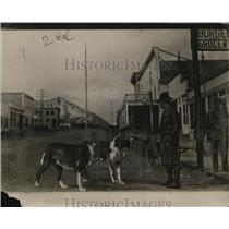 1923 Press Photo Main Street Scene in Seward, Alaska - neo03138