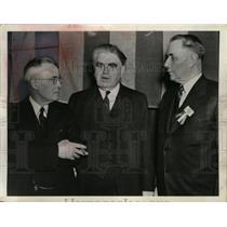 Press Photo John Lewis, Sec. Tom Kennedy & John O'Leary United Mine Workers