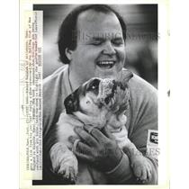 "1987 Press Photo Edward Kozatek Bulldog ""Sal"""