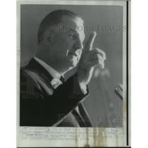 1968 Press Photo Maryland Governor Spiro T. Agnew at Bergen county fundraiser