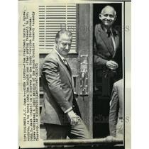 1971 Press Photo Vice President Spiro Agnew with Governor John West - noa14113