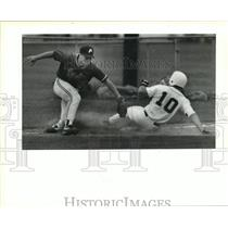 1991 Press Photo Baseball - Brian Anderson & Preston Roussel in Action
