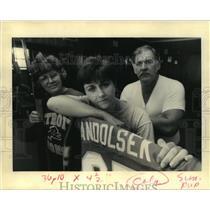 1992 Press Photo Family of Eric Andolsek, Detroit Lions Player - noa15971