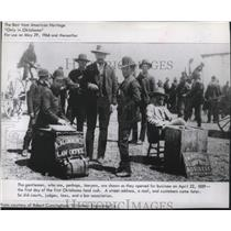 1889 Press Photo US Historical event, lawyers open business - Oklahoma land rush
