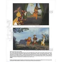 Press Photo Piglet Big Movie Walt Disney cartoon bears