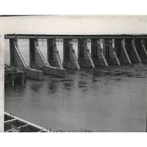 1950 Press Photo Dam layout - spa43724