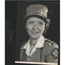 1948 Press Photo Mrs Jimison American Red Cross Uniform - RRY48249