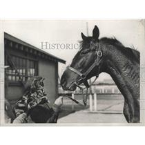 1935 Press Photo Gallant Prince at Aqueduct Race Trace for American Racing