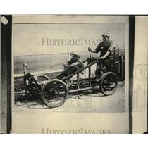 1925 Press Photo William Bloomberg & Cowen Chamberlain Mush Across U.S.