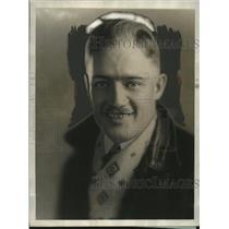 1929 Press Photo H.F. Mitchell, Pilot Planning New York-San Francisco Flight