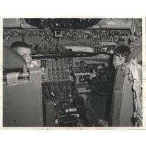 1968 Press Photo Driver's Seat in the cockpit of KC-135 Stratotanker
