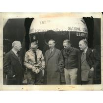 1935 Press Photo Dr Lyman Briggs, Capt Al Stevens, Dr Gil Grosvenor - neo22341