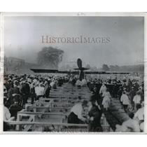 1959 Press Photo Stunt Airplane Act Crash - mja64648