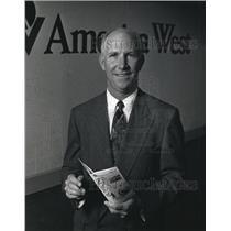 1992 Press Photo Mark J. Coleman heads America West market planning - mja80332