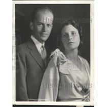 1931 Press Photo Mr Mrs Bancraft Mitchell son Attorney