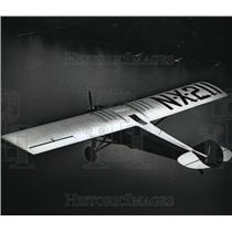 1991 Press Photo Replica Plane of The Spirit of Saint Louis Over Lake Winnebago