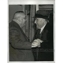 1938 Press Photo New York Carl Ullrich Meets Brother Emil on Liner Hansa NYC
