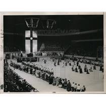 1937 Press Photo New York Mass Meeting at Madison Square Garden NYC - neny11679