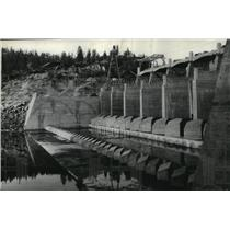 1937 Press Photo Spokane Waterworks Dam, Washington - spx17637