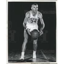 1961 Press Photo Joe Fisher, forward, University of Texas basketball - sbs05775