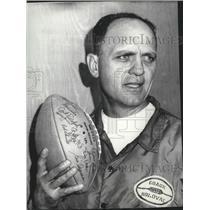 1969 Press Photo San Francisco 49ers football coach, Mike Holovak  - sps05415