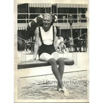 1931 Press Photo Diana Fishwick, British golf star, vacationing in Miami