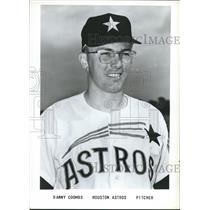 1964 Press Photo Danny Coombs, Pitcher, Houston Astros - sbs06202