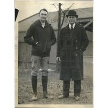 1928 Press Photo Tad Jones, asst. coach & head Coach Mal Stevens, Yale football