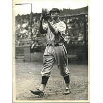 1935 Press Photo Jim O'Dea, second string catcher for Chicago Cubs - sbs06528