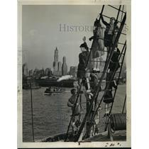 1940 Press Photo New York British Children on the Liner Samaria Arrive in NYC