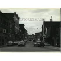 1980 Press Photo Main Street in Biddeford, Maine - mja62612