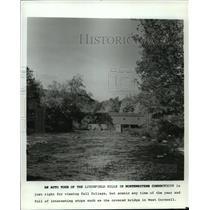 1985 Press Photo Bridge at West Cornwall, Connecticut - mja63646