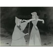 """1964 Press Photo Cinderella gets her dress in Walt Disney's """"Cinderella"""""""