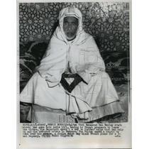 1955 Press Photo Sultan Sidi Mohammed Ben Moulay Arafa of Morocco - mja77419