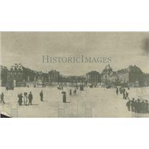 1918 Press Photo View of the Palace at Versailles showing the main facade