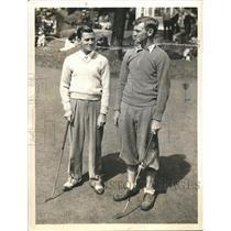 1934 Press Photo Reynolds Smith, David Goldman win matches in 1/4 final, Amateur