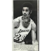 1970 Press Photo Los Angeles Lakers basketball starter, Dick Garrett - sps06390