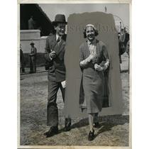 1931 Press Photo SOCIETY AT UNITED HUNTS MEET AT AQUEDUCT NYC - neny21698