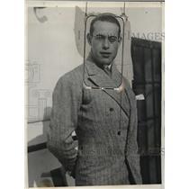 1925 Press Photo Jose Garcia Lagabeno Spanish Toreador on SS Majestic