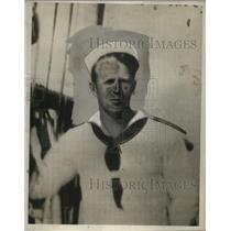 1932 Press Photo Sailor Red Johnson - neo10227