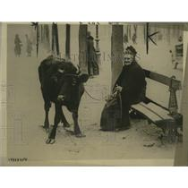 1918 Press Photo French Woman with all her wordy possessions after German Drive