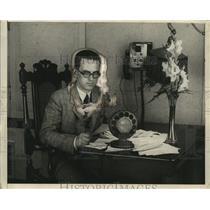 1924 Press Photo Bob Emery Program Director Station WEEI  - neo13831