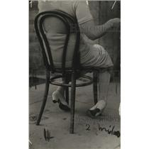 1913 Press Photo Shoes white pumps - neo14217
