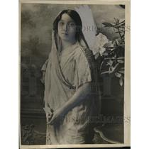 1925 Press Photo Miss Mithan Tata, Indian Woman Barrister Advocate of Bombay