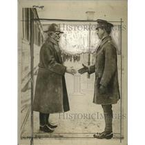 1918 Press Photo General John J. Pershing & King Albert of Belgium - neo18658