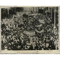 1930 Press Photo Students of India Stage Demonstration at India Nat'l Congress